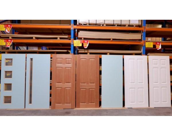 Door Entr Retro 6xpanel 40mm 1980x860mm wood/G