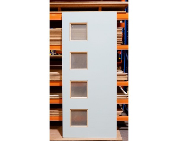 Door Entr Version 4xGlaze 40mm 1980x860mm Primed