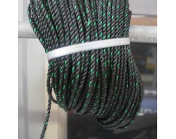 Rope Nylon M4 Black/Green LM 1000mm
