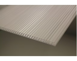 Polycarbonate Twinwall Honeycomb Sheet (Clear)