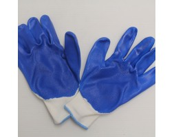 Gloves Light Blue/White Pair