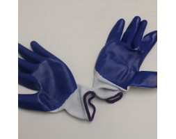 Gloves N518 Dark Blue/White Pair